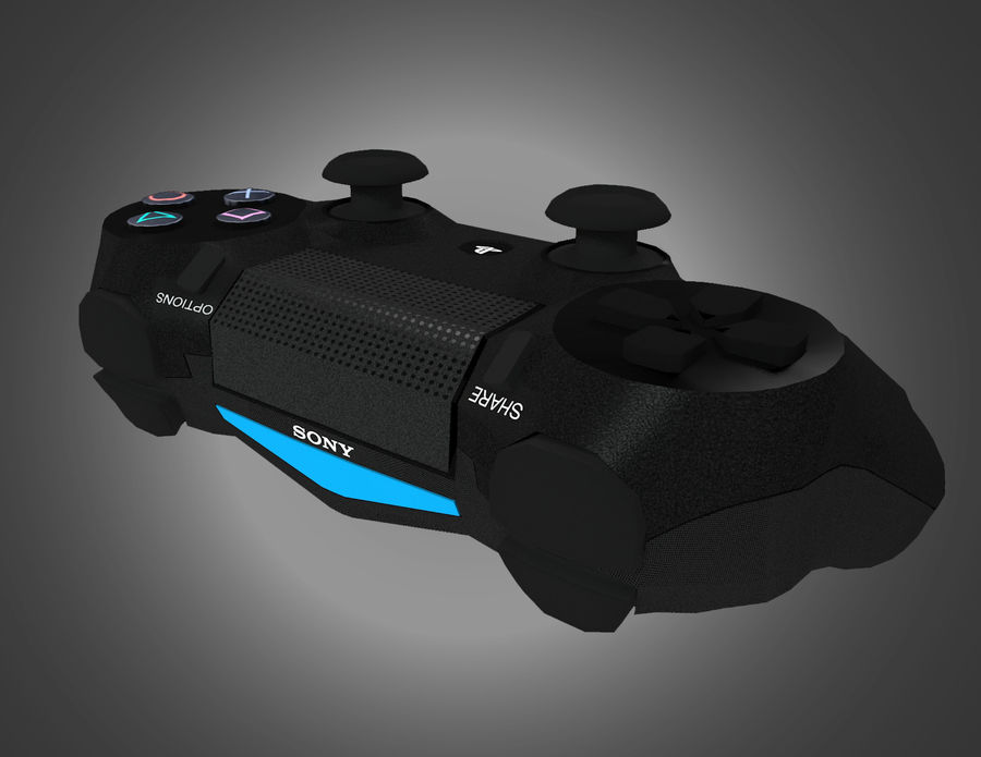 Low Res Sony Playstation Dualshock 4 Controller royalty-free 3d model - Preview no. 2