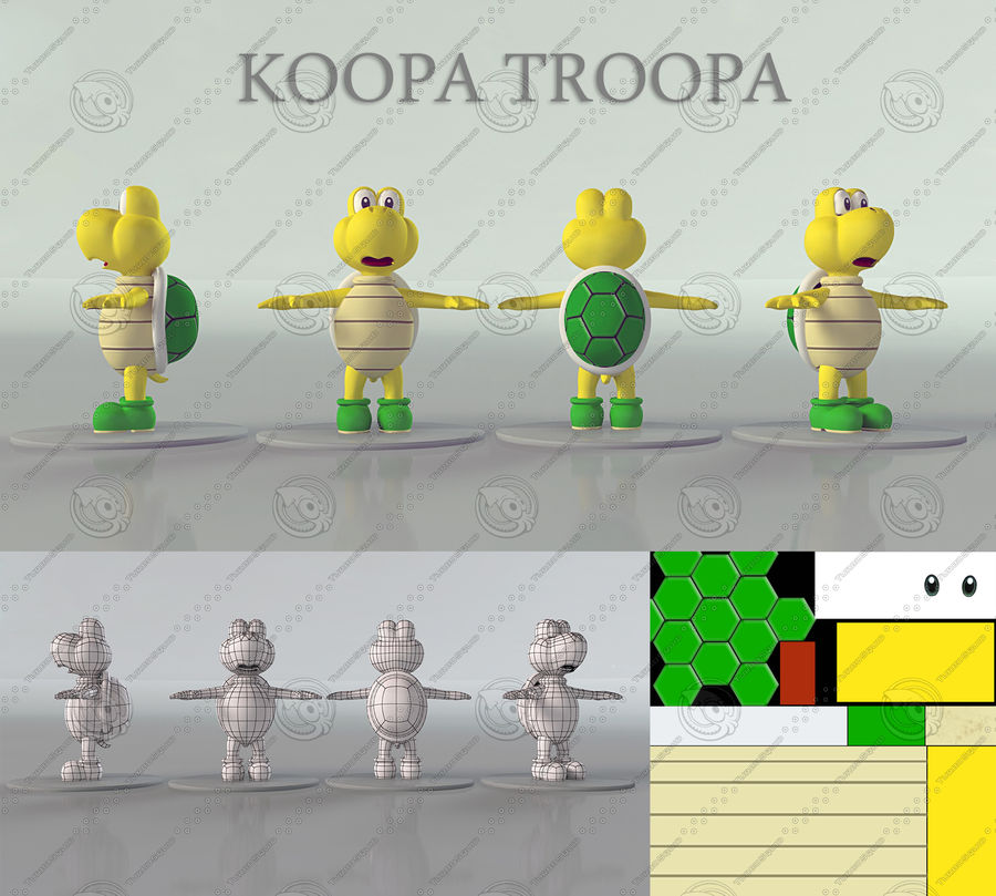 Купа Troopa royalty-free 3d model - Preview no. 11