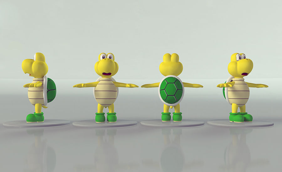 Купа Troopa royalty-free 3d model - Preview no. 8