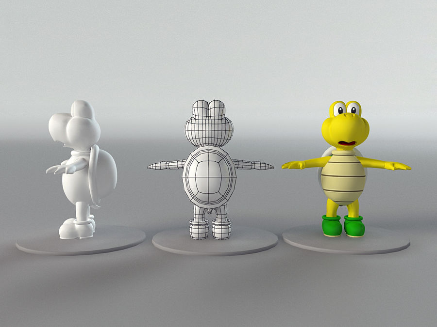 Купа Troopa royalty-free 3d model - Preview no. 7