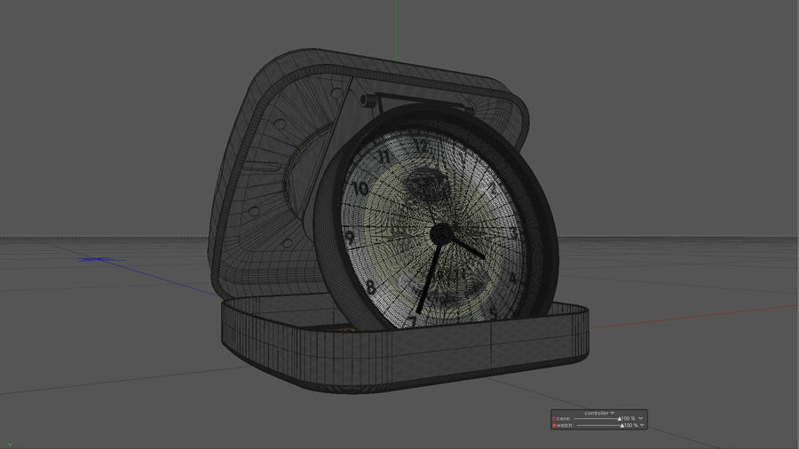 Horloge de table royalty-free 3d model - Preview no. 3