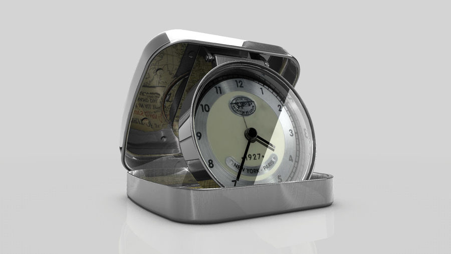 Horloge de table royalty-free 3d model - Preview no. 7