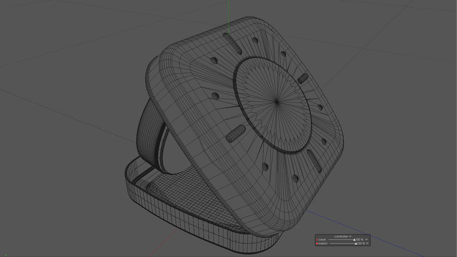 Horloge de table royalty-free 3d model - Preview no. 6