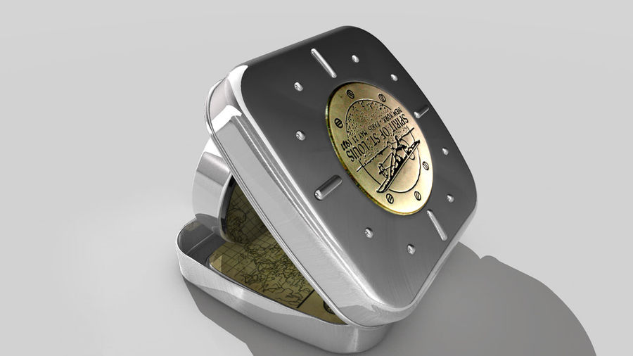 Horloge de table royalty-free 3d model - Preview no. 1