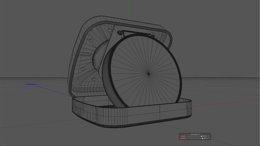 Horloge de table royalty-free 3d model - Preview no. 8