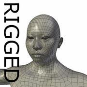 RIGGED Musclé Asiatique Femme Base Maillage 3d model