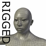 RIGGED Muscular Asian Woman Base Mesh 3d model