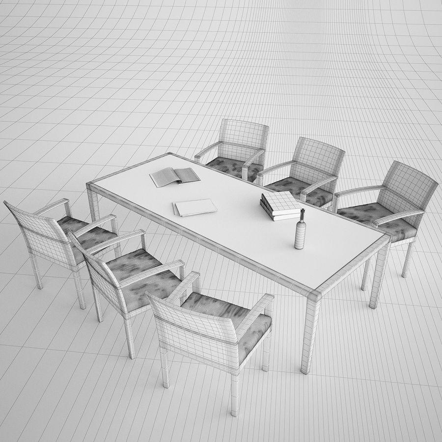 Dedon Panama Rattan Lounge Chair royalty-free 3d model - Preview no. 6