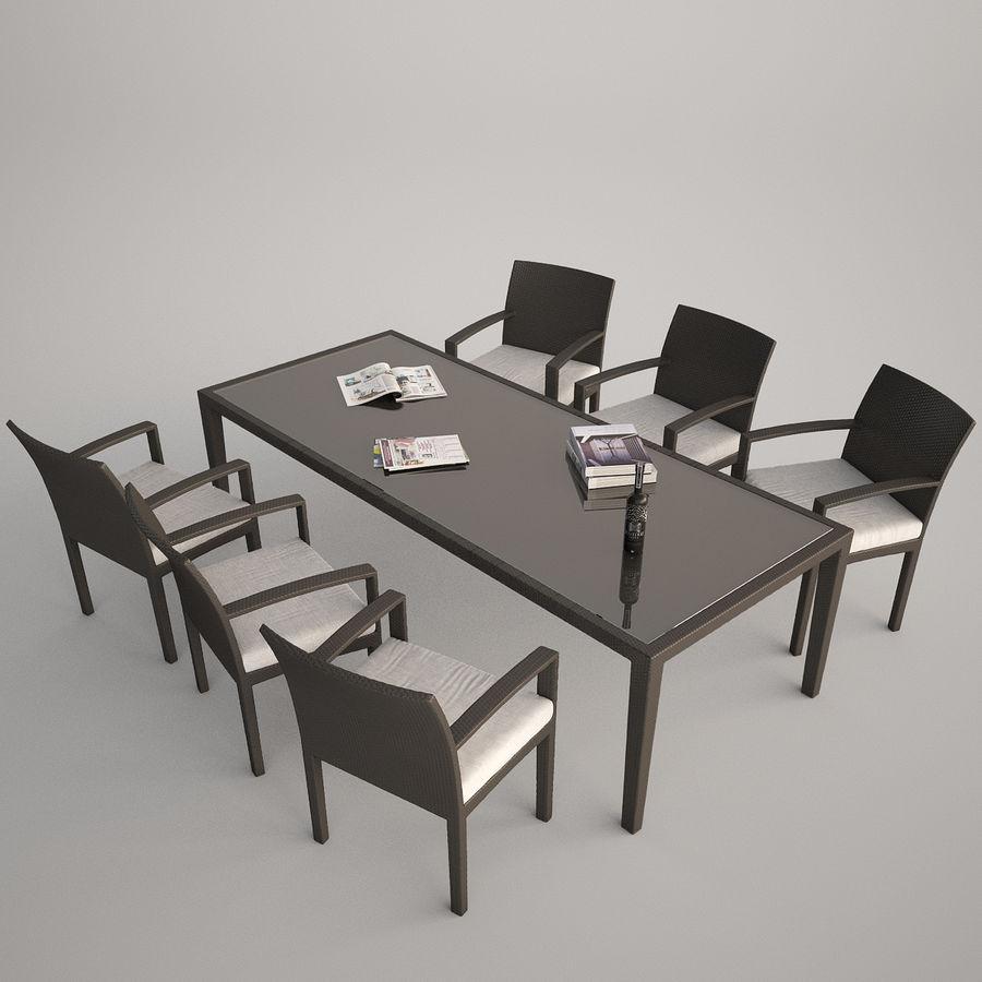 Dedon Panama Rattan Lounge Chair royalty-free 3d model - Preview no. 1