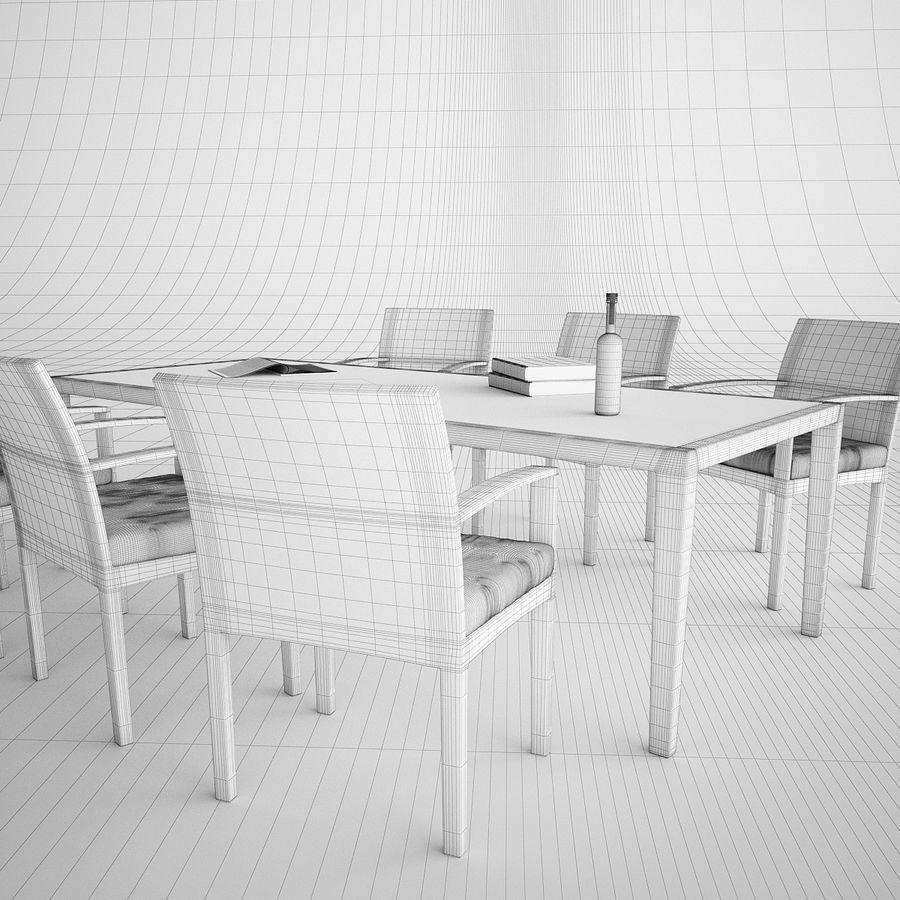 Dedon Panama Rattan Lounge Chair royalty-free 3d model - Preview no. 5