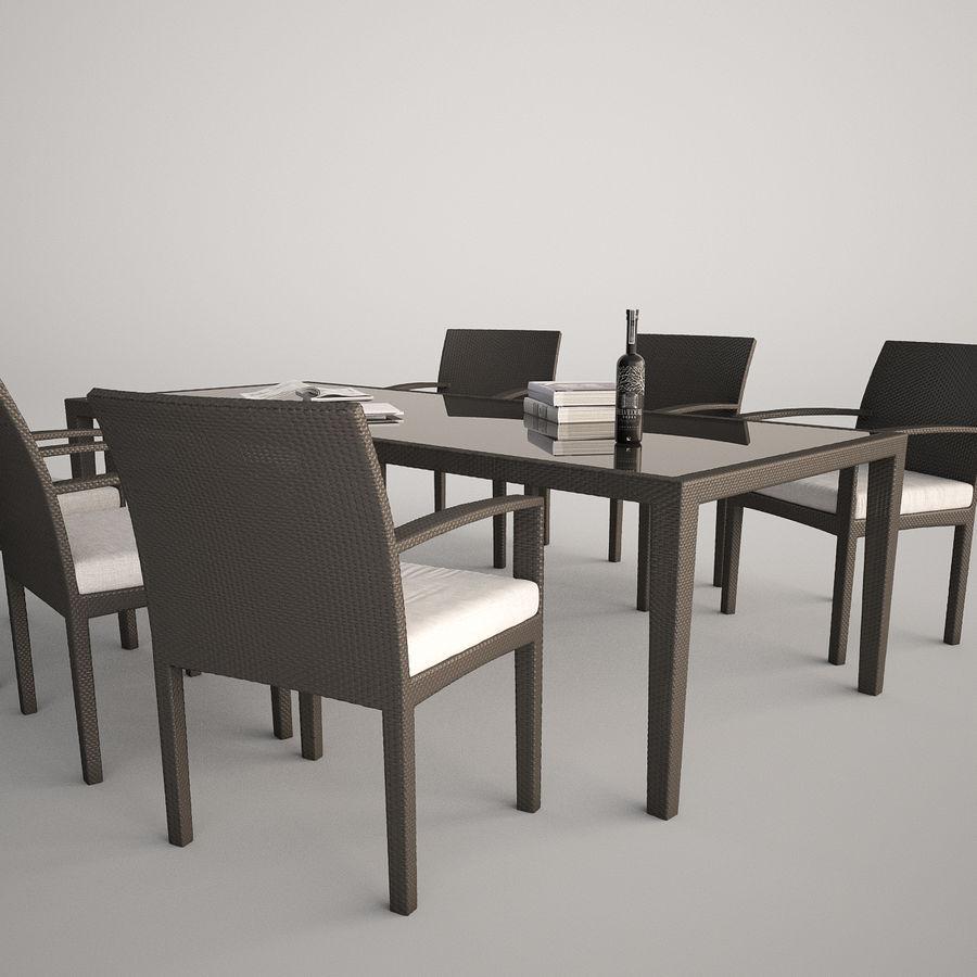 Dedon Panama Rattan Lounge Chair royalty-free 3d model - Preview no. 3