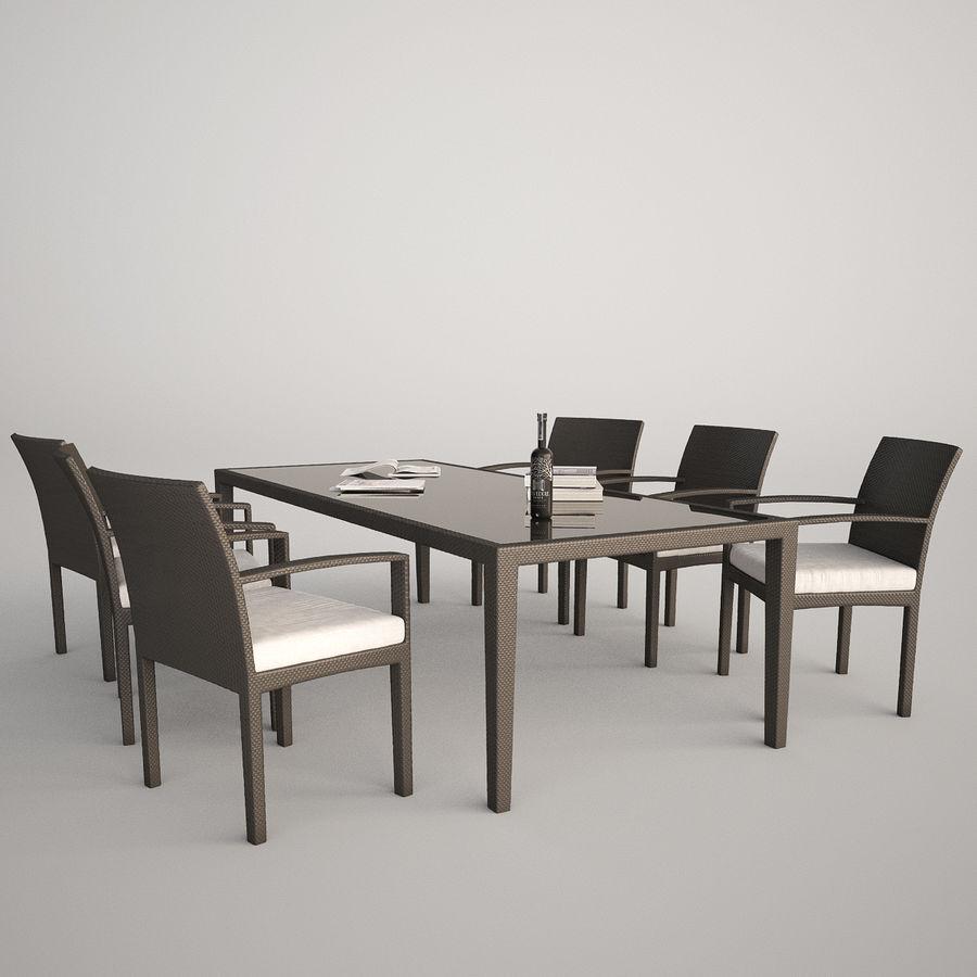 Dedon Panama Rattan Lounge Chair royalty-free 3d model - Preview no. 2
