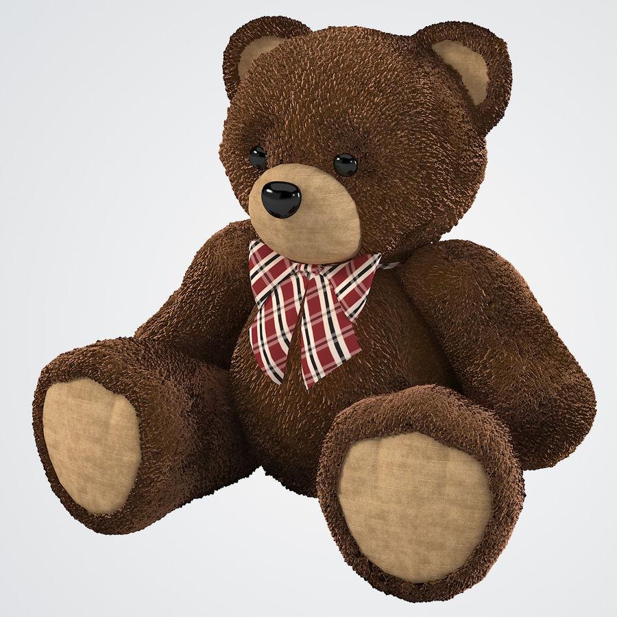Fur Bear Toy royalty-free 3d model - Preview no. 2