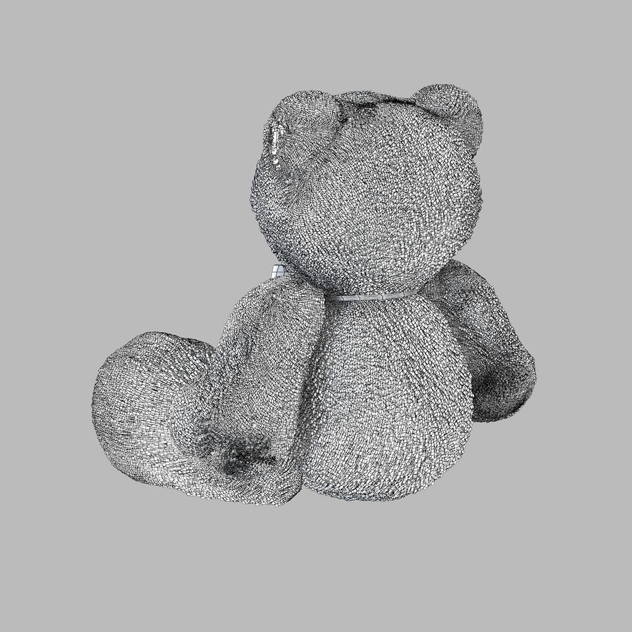 Fur Bear Toy royalty-free 3d model - Preview no. 7