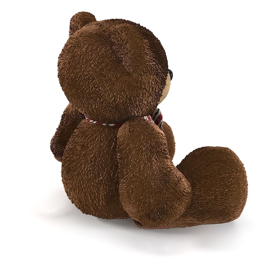 Fur Bear Toy royalty-free 3d model - Preview no. 4