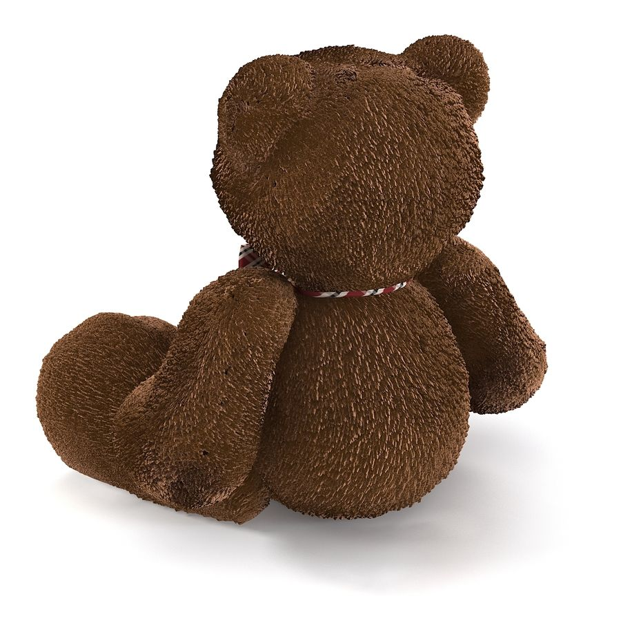 Fur Bear Toy royalty-free 3d model - Preview no. 5