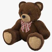 Fur Bear Toy 3d model