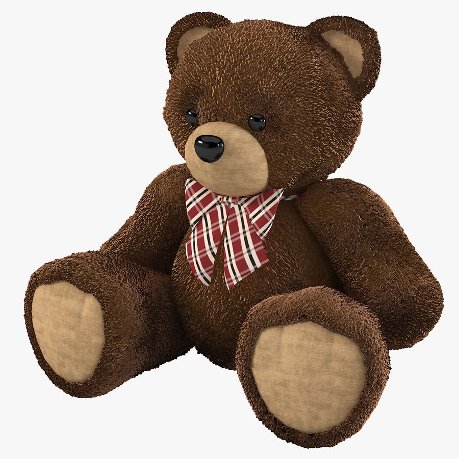 Fur Bear Toy royalty-free 3d model - Preview no. 1