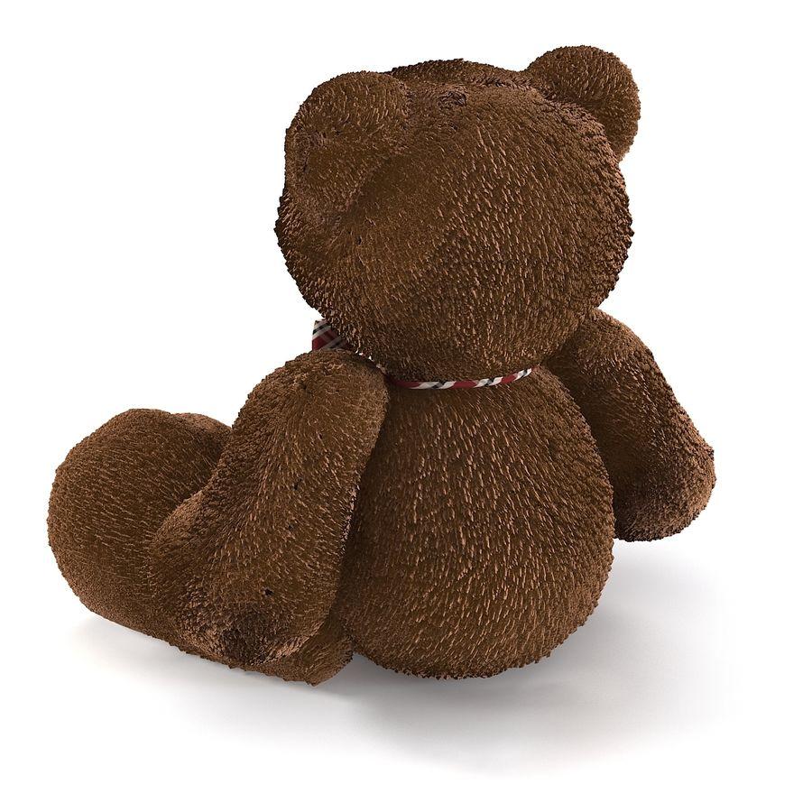 Fur Bear Toy royalty-free 3d model - Preview no. 5