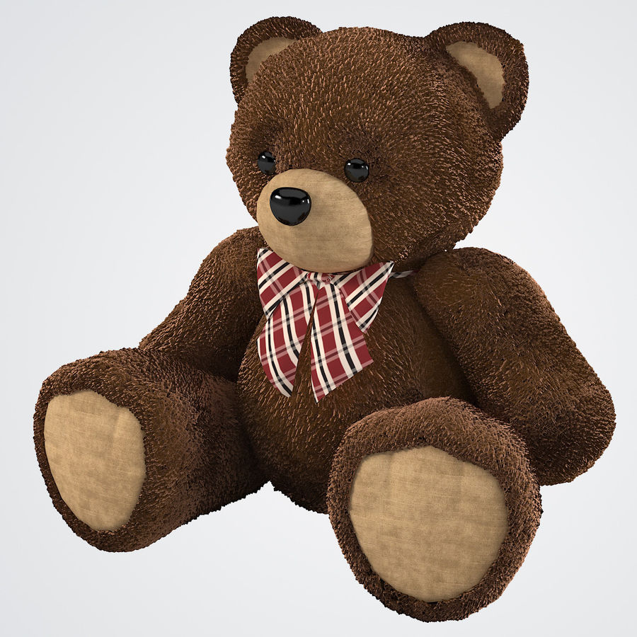 Fur Bear Toy royalty-free 3d model - Preview no. 2
