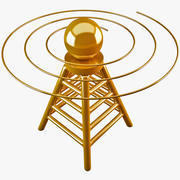 Telecommunication Tower Icon 3d model