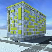 Byggnad 5 3d model