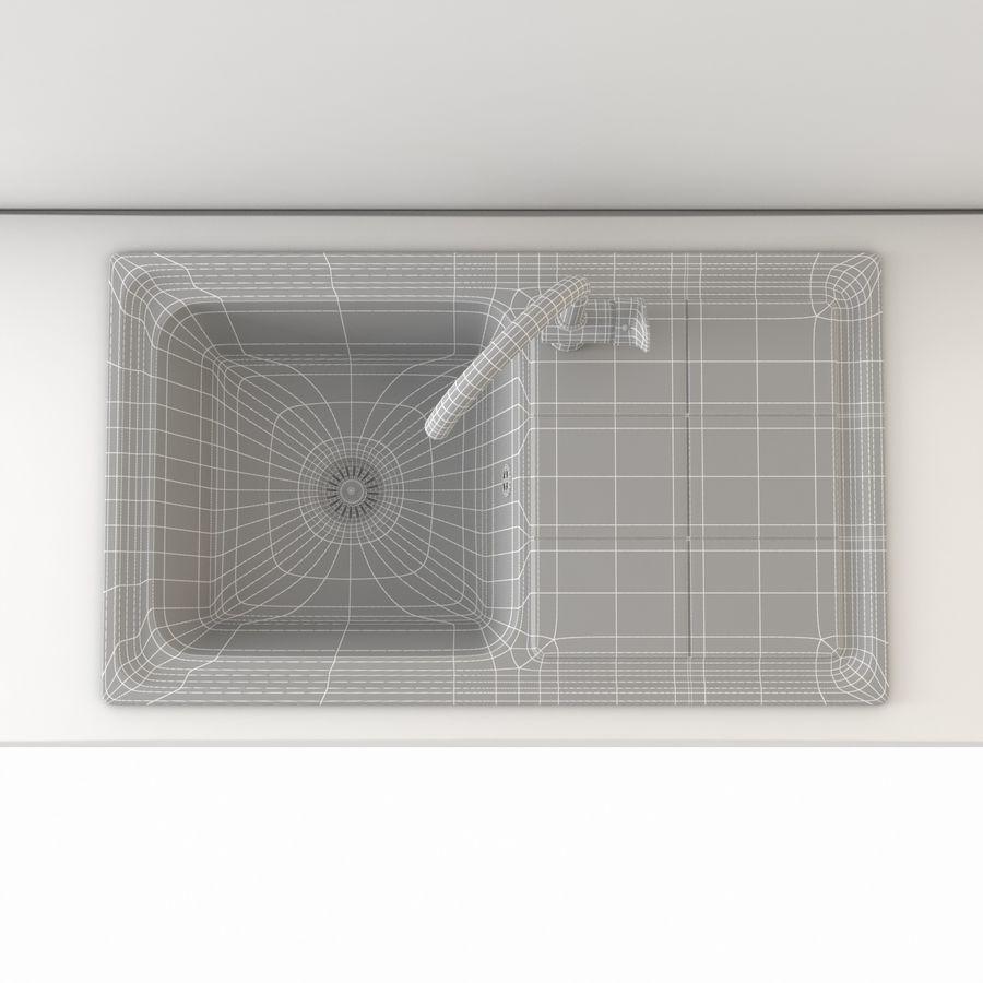 Lavello da cucina con rubinetto royalty-free 3d model - Preview no. 11