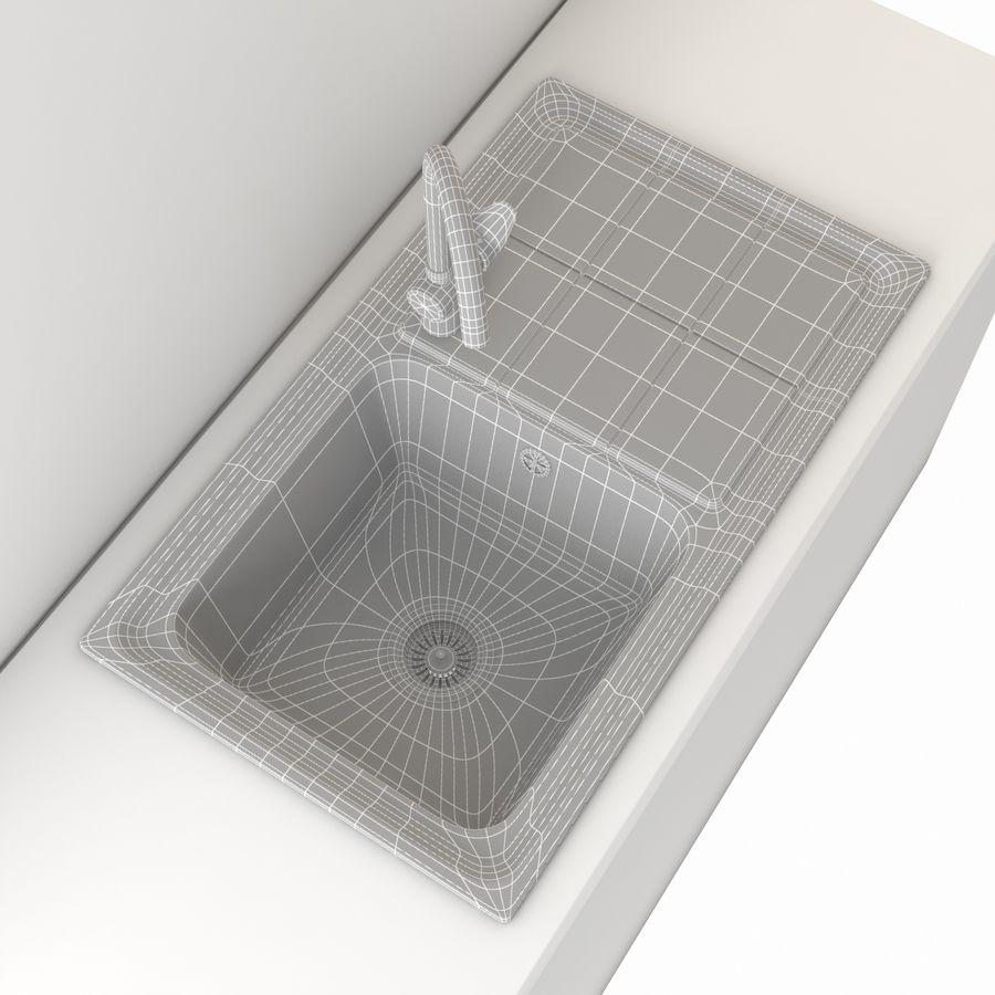 Lavello da cucina con rubinetto royalty-free 3d model - Preview no. 10