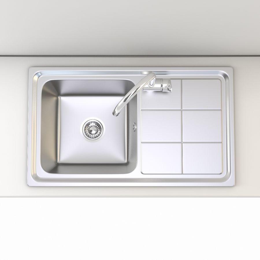 Lavello da cucina con rubinetto royalty-free 3d model - Preview no. 6