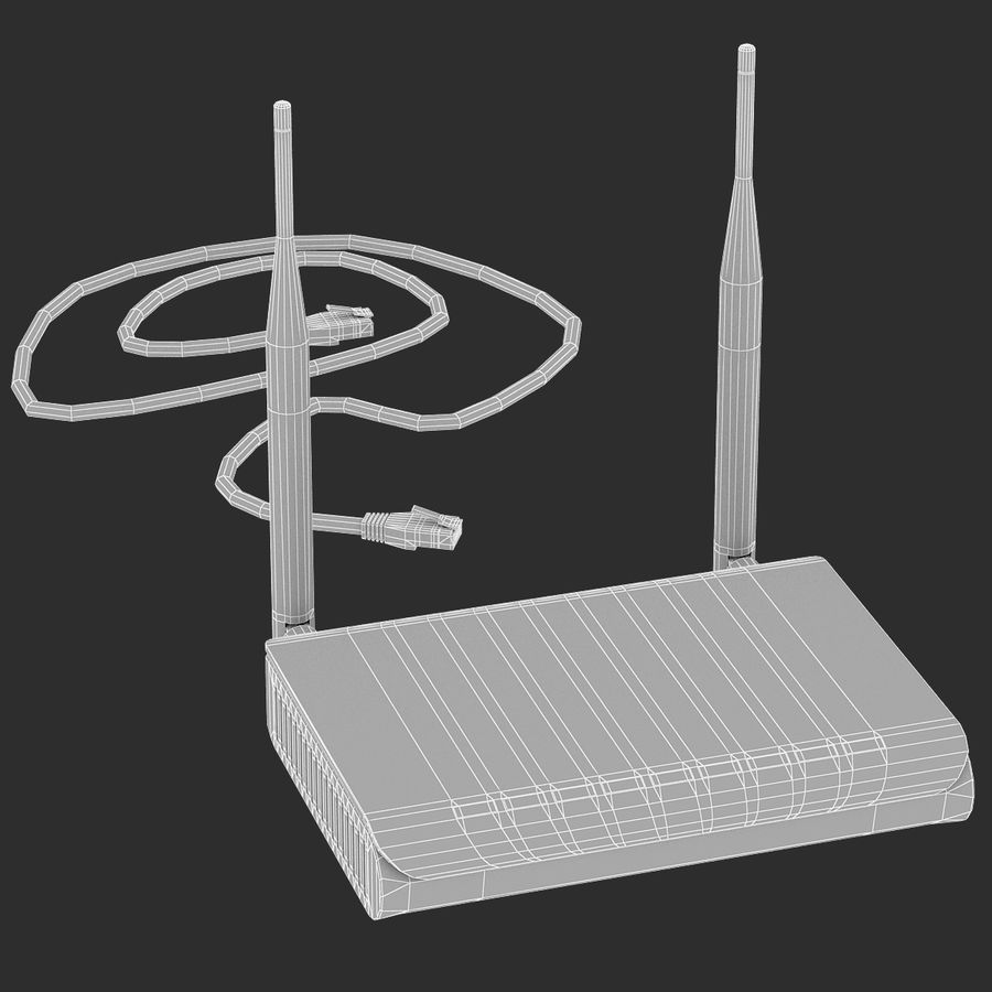 Roteador Wi-Fi royalty-free 3d model - Preview no. 9