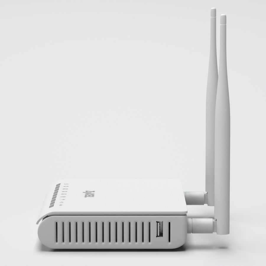 Roteador Wi-Fi royalty-free 3d model - Preview no. 8