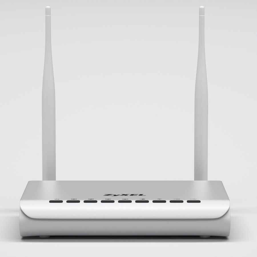 Roteador Wi-Fi royalty-free 3d model - Preview no. 7