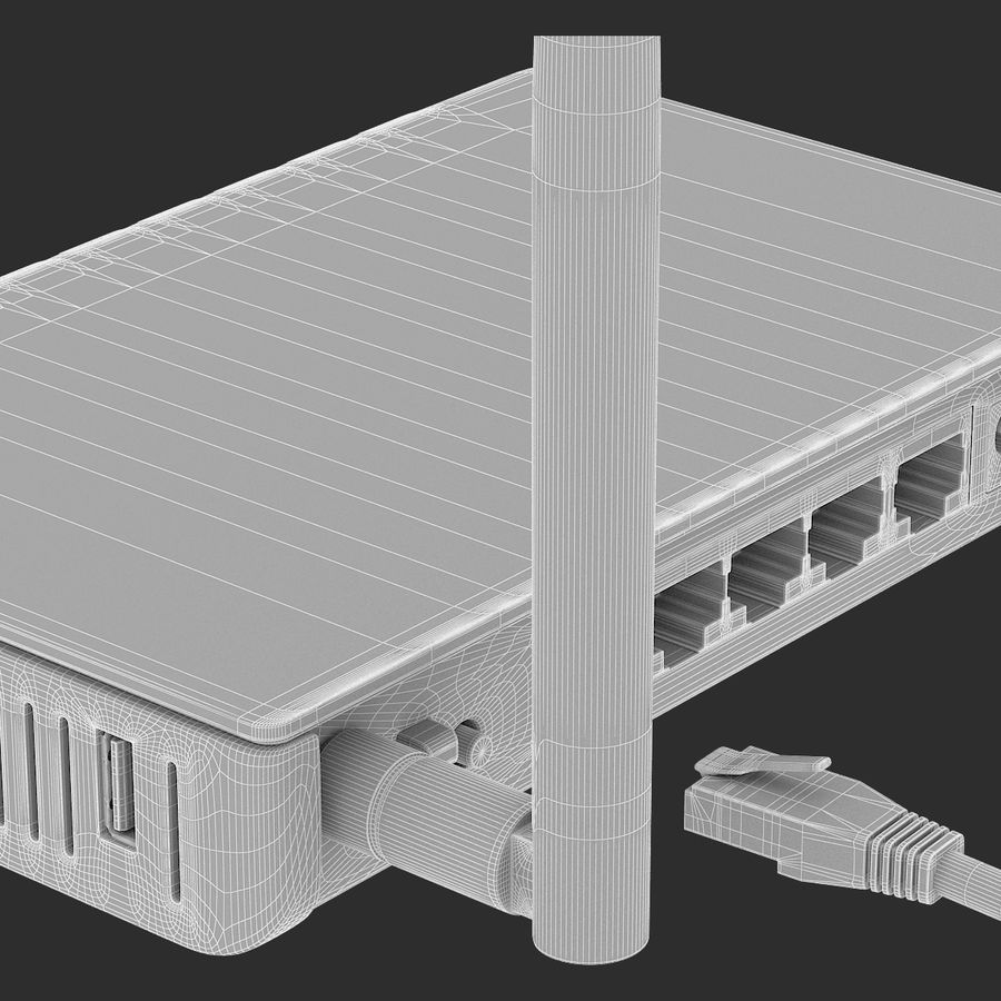 Roteador Wi-Fi royalty-free 3d model - Preview no. 12