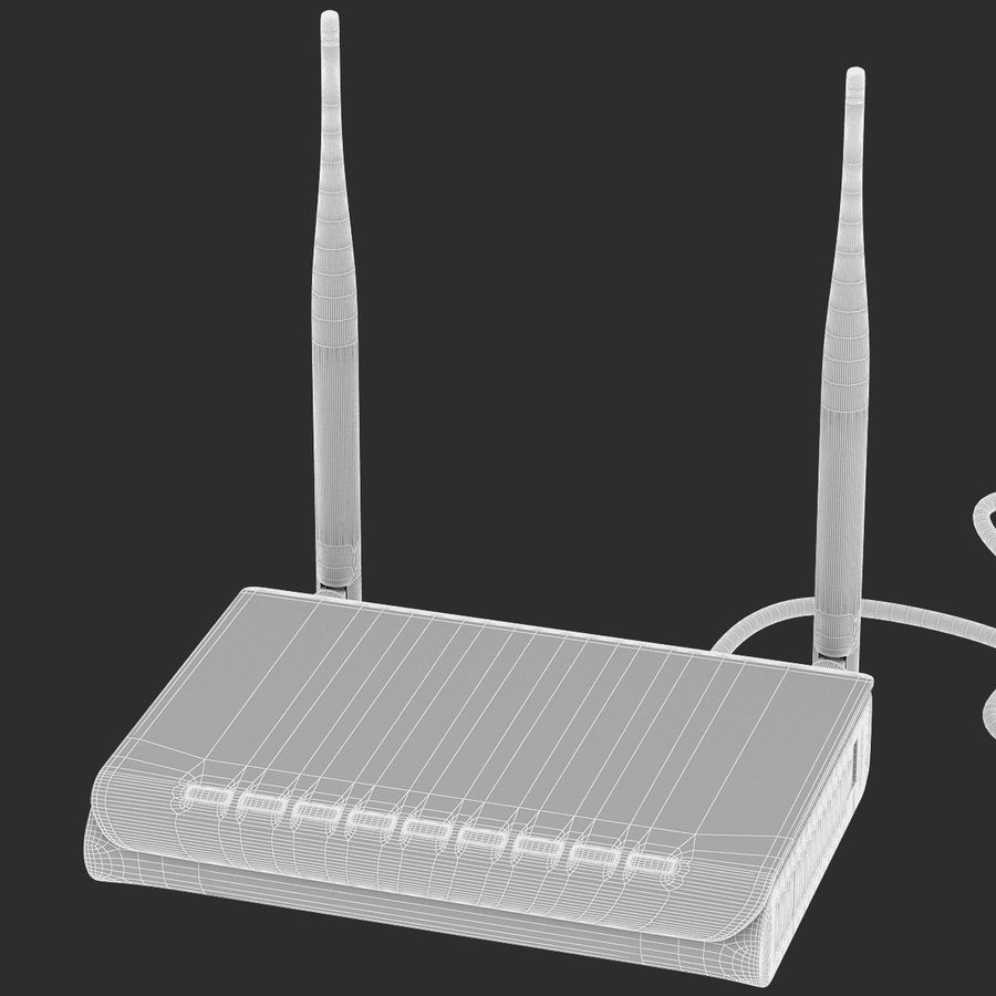 Roteador Wi-Fi royalty-free 3d model - Preview no. 10