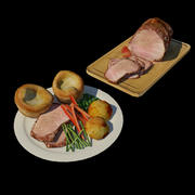 Beef Dinner 3d model