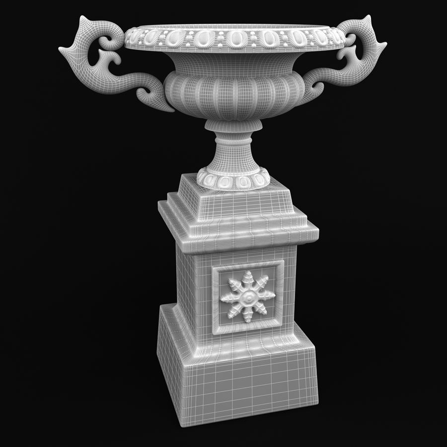 Flower Pot Decoration royalty-free 3d model - Preview no. 10