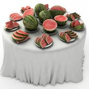 Блюдо с фруктами 3d model