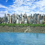 Модульный Город 3d model