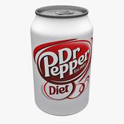 Diet Dr Pepper Can 3d model