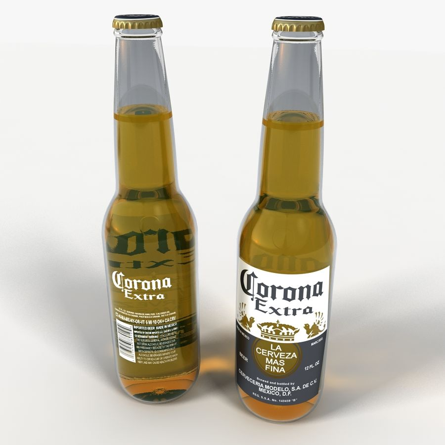 Six Pack of Corona Extra royalty-free 3d model - Preview no. 6