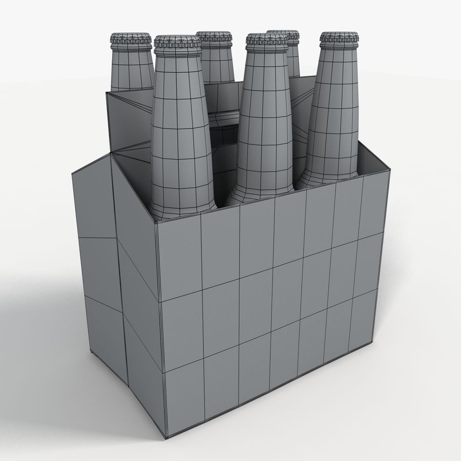 Six Pack of Corona Extra royalty-free 3d model - Preview no. 1