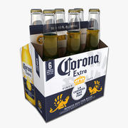 Six Pack of Corona Extra 3d model