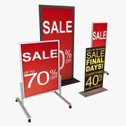 Retail Floor Signage 01 3d model