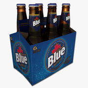 Six Pack of Labatt Blue 3d model