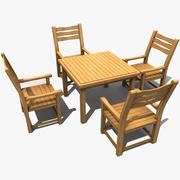 Gammalt trädgårdsbord 3d model