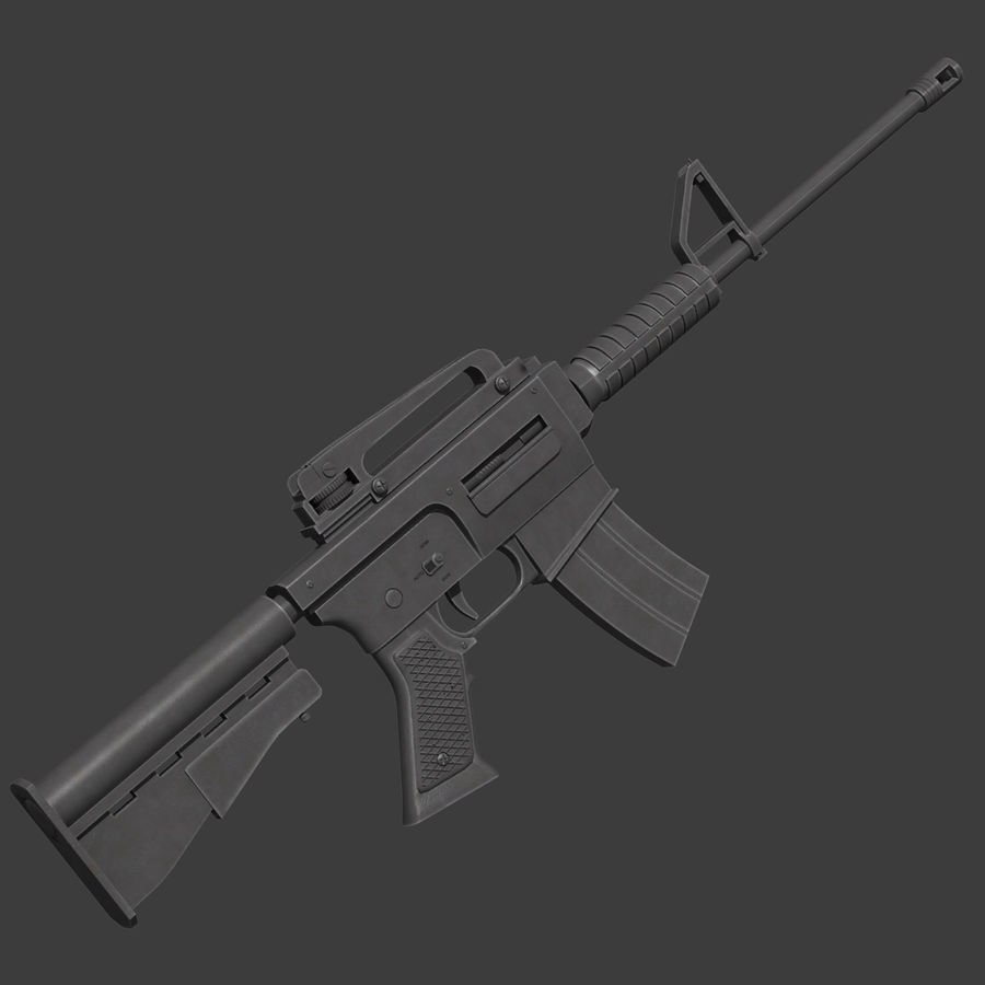 Assault Rifle royalty-free 3d model - Preview no. 2