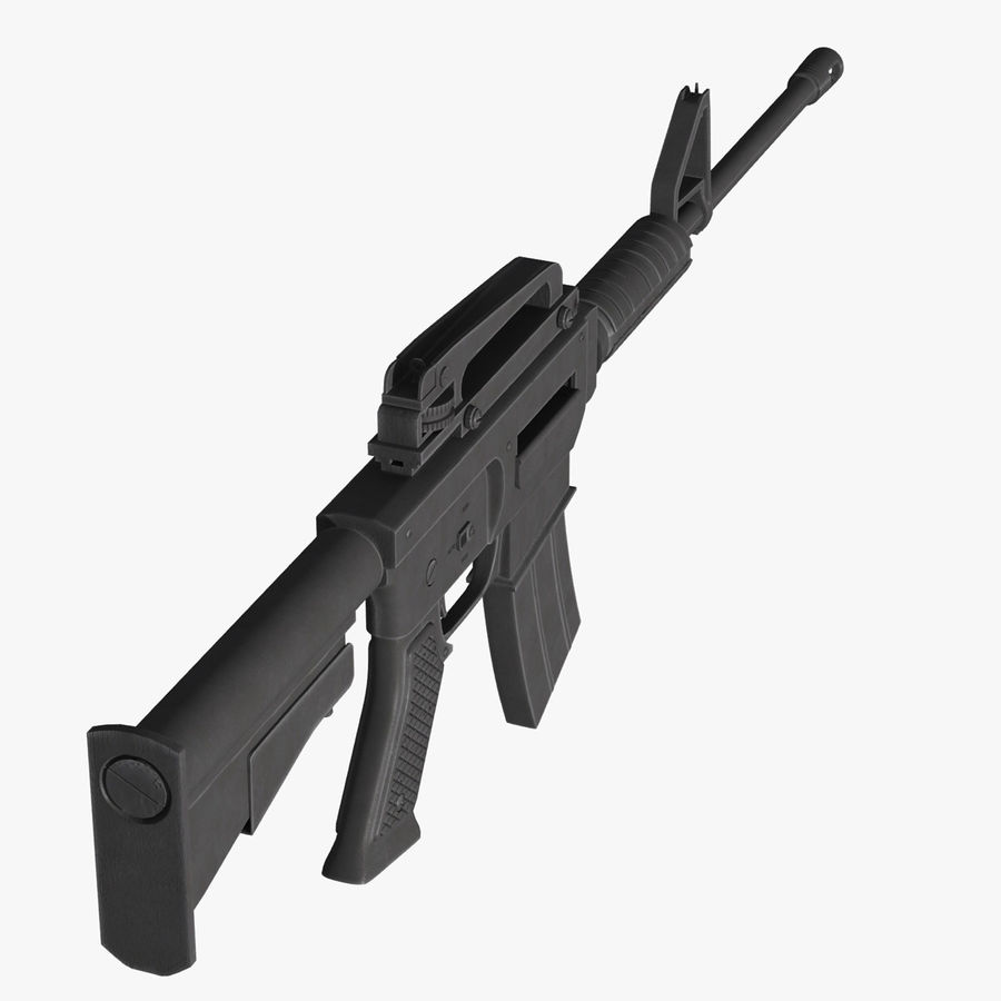 Assault Rifle royalty-free 3d model - Preview no. 11