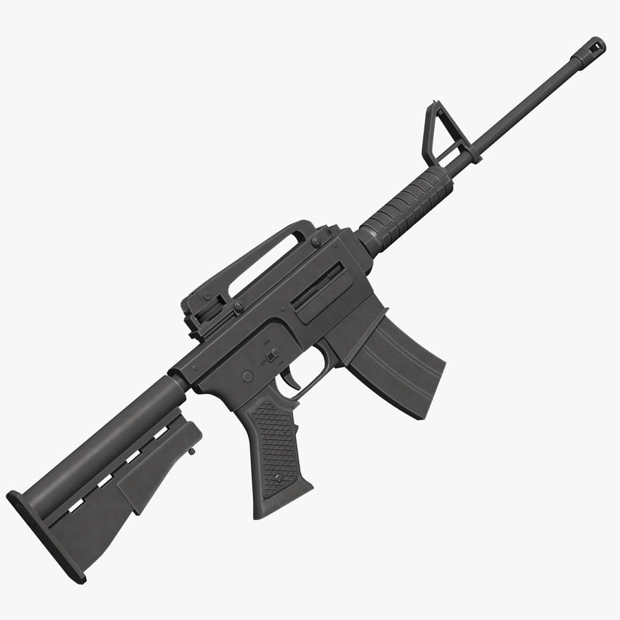 Assault Rifle royalty-free 3d model - Preview no. 1