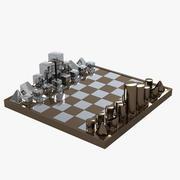 Diego Matthai Chrome Chessboard 3d model