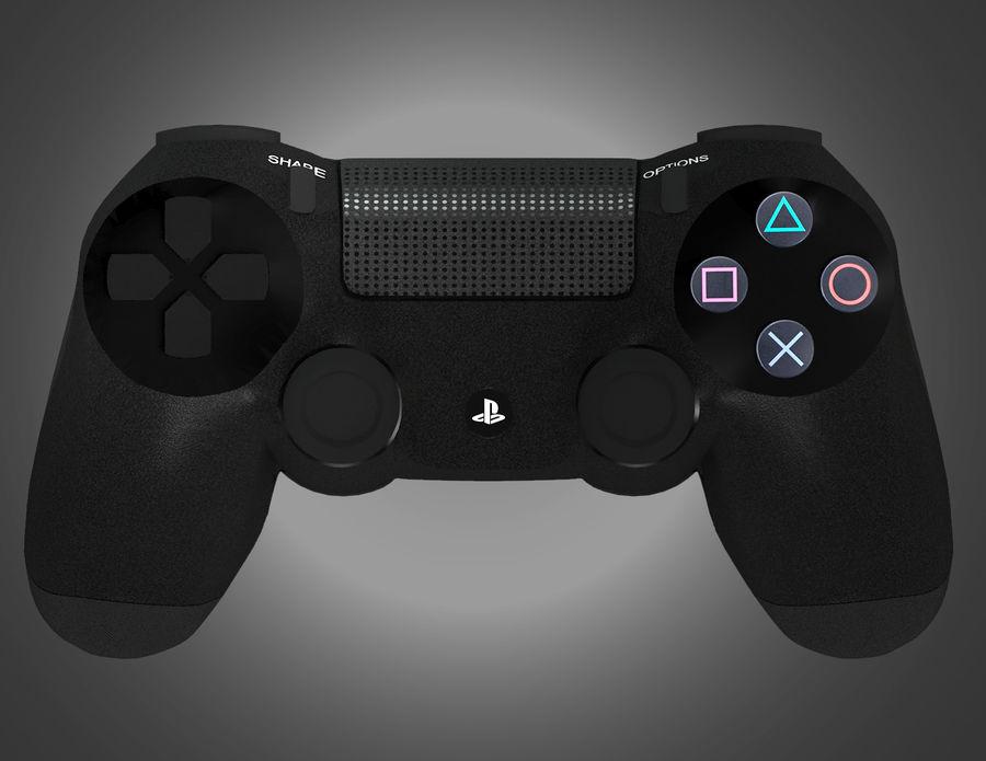 高分辨率Sony Playstation dualshock 4控制器 royalty-free 3d model - Preview no. 4